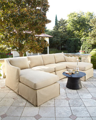 LANE VENTURE Harrison Outdoor Sectional & Armless Chair
