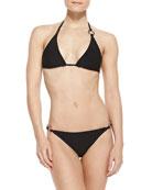 Ring-Side Triangle Bikini Top & Low-Rise Bikini Bottom