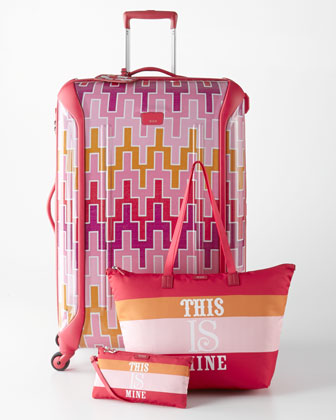 Jonathan Adler Travels With Tumi Pink Luggage Collection