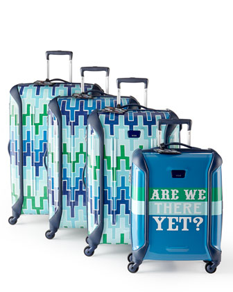 Jonathan Adler Travels With Tumi Blue Luggage Collection