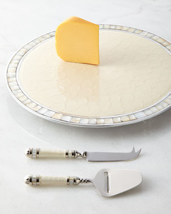 Classic Cheese Board & Cheese Knife/Slicer Set