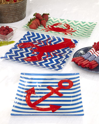 Nautical-Theme Glass Plates