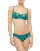 Merci Demi Bra & Tanga, Jet Green