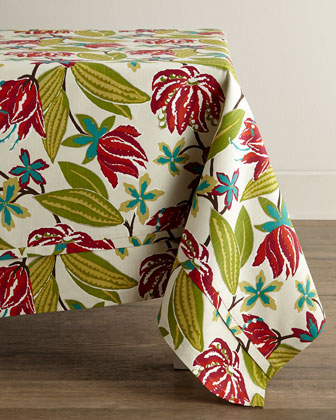 Bright Floral Tablecloth, 68