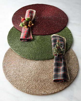 Holiday Placemats, Napkins, & Napkin Rings