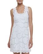 Kissing Fish Sleeveless Coverup Dress & Formfitting Camisole Slip, White