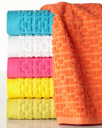 Palm Springs Block Sculpted Towels
