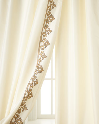 Panache Embroidered-Border Curtains