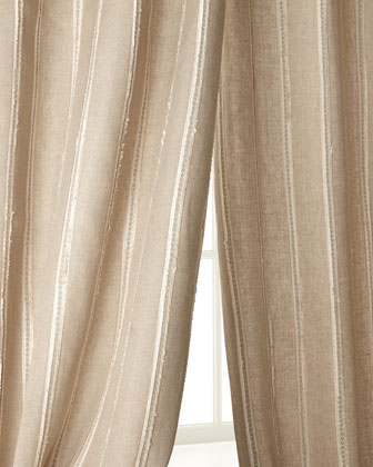 Radiant Striped Linen Curtains