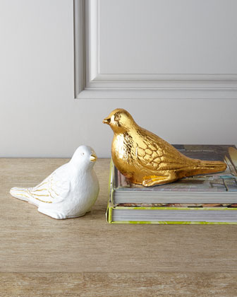 Golden Turtledove Figurine