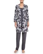 Pordenone Robe, Talco Lounge Camisole & Jersey Pants