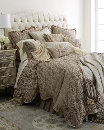ivory polyester bedding neiman marcus. Black Bedroom Furniture Sets. Home Design Ideas
