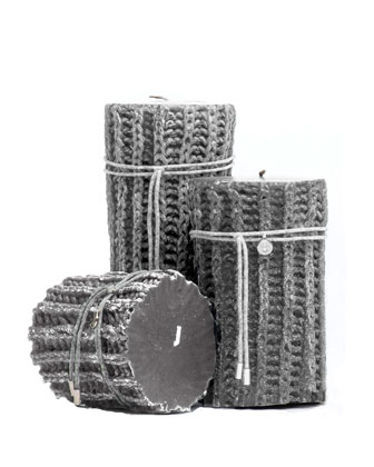 Pearl Gray Braided Candles