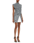 Uprising Leopard-Print Stand-Collar Top & Move On Jersey Leopard-Print Skirt