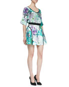 All My Love Silk Printed Top & Whimsical Waves Printed Jersey Skirt