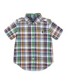 Toddler Boys' and Boys' Blake Plaid Short-Sleeve Shirt