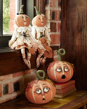Pumpkin Patch Figures and Pumpkin Heads