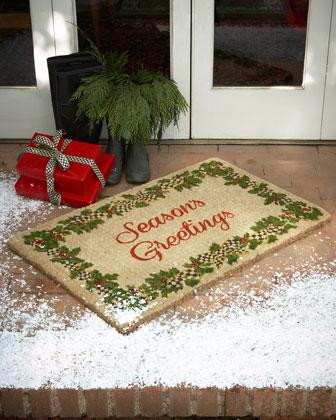 Season's Greetings Door Mats