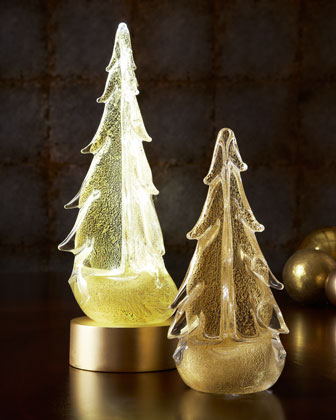 24-Kt.-Gold Glass Trees