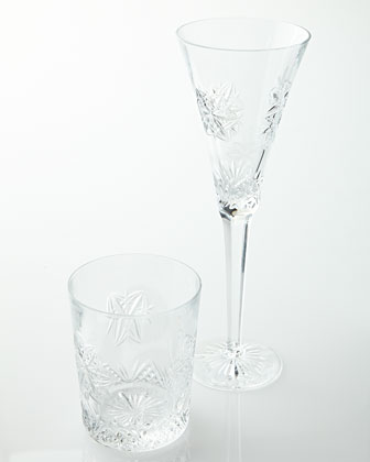 Snowflake Wishes Peace Clear Glassware