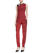Time Out Printed Sleeveless Top & Whisper Mixed-Print Flowy Pants