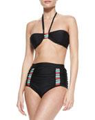 Cas Abou Halter-Neck Bikini Top & Cas Abou High-Rise Bikini Bottom