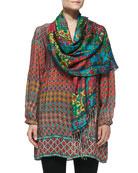 Samaira Silk Printed Scarf & Priscilla Silk Printed Tunic, Women's
