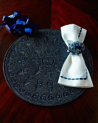 Shades of Blue Placemat, Napkin, & Napkin Ring