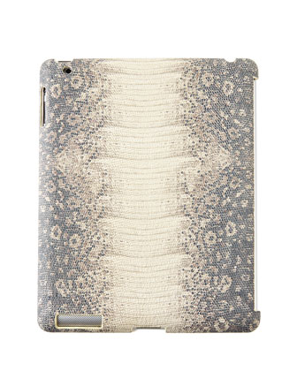 Iguana-Embossed Leather iPad Mini Case