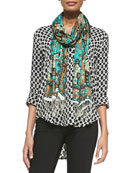 Marissa Printed Silk Tunic & Samaira Printed Silk Scarf