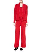 Cashmere Zip Jacket, Tank & Drawstring Pants