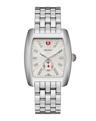 Urban Stainless Diamond-Dial White Watch Head & 20mm Urban Bracelet
