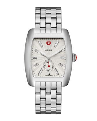 Urban Stainless Diamond-Dial White Watch Head & 20mm Urban Bracelet
