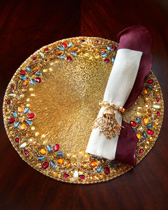 Multicolored Placemat, Napkins, & Napkin Ring