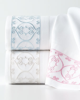 Embroidered Scroll Sheet Sets