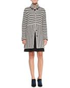 Maxeen Knit Sweater Coat & Beasley Knit Sleeveless Dress