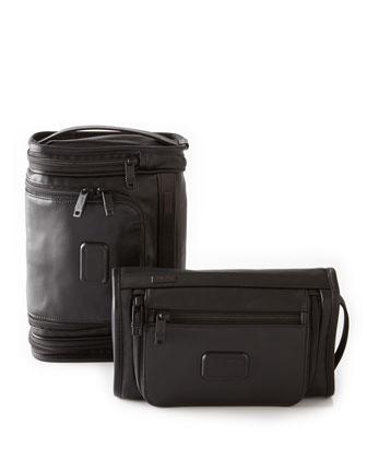 Alpha 2 Black Leather Travel Kits