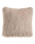 Faux-Fur Throw & Pillow