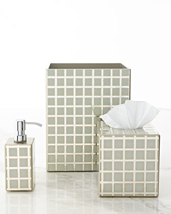 Ivory Grid Vanity Accessories
