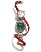 The 34mm Birdy Rose Golden Double-Wrap Watch & 40mm Brakeman Chronograph Watch