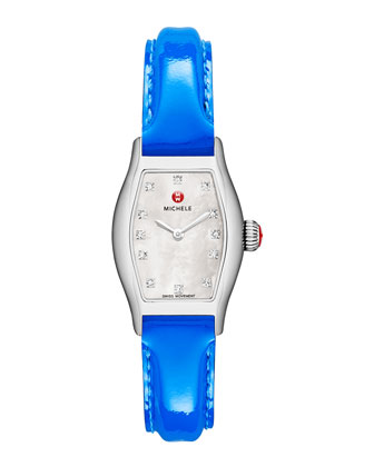 Urban Coquette Mother-of-Pearl Watch Head & 12mm Patent Leather Strap