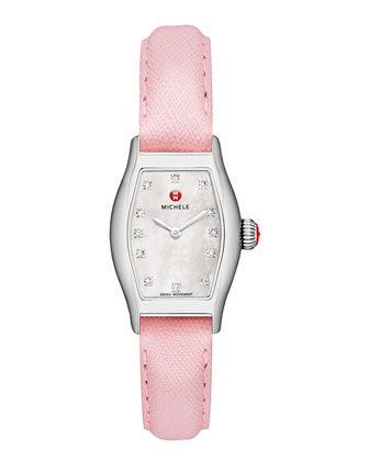 Urban Coquette Mother-of-Pearl Watch Head & 12mm Saffiano Leather Strap