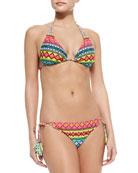 Bayamo Vixen Printed Swim Top & Bayama Vamp Tie-Side Swim Bottom