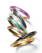 Small Crystal-Dust Lucite Hinge Bracelets