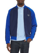 Bomber Track Jacket & Tipped-Collar Oxford Polo Shirt