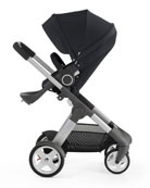 Crusi Stroller Chassis with Seat, Sibling Seat for Stokke Crusi Stroller, Carry Cot for Crusi Stroller, PramPack Stroller Cover for Travel, Footmuff for Use Stokke Xplory/Crusi Seat, Stroller Parasol & Stroller Cup Holder
