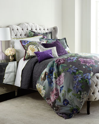 Alexandria Amethyst Bedding & Astor Moss 400TC Sheets