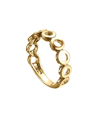 Dot 18k Gold Band Ring