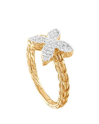 Kawung 18k Diamond Ring