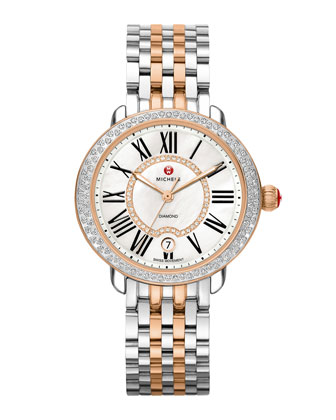 Serein 16 Two-Tone Diamond Watch Head & Bracelet Strap